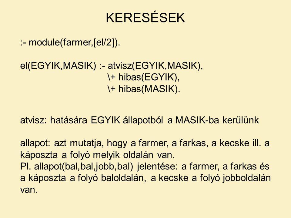 KERESÉSEK :- module(farmer,[el/2]).